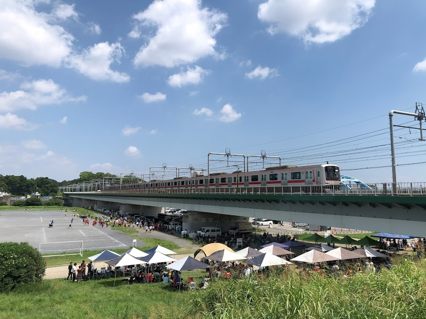 新丸子からすぐ丸子橋(多摩川河川敷)でバーベキューできるエリア ...